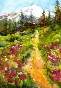 Path to Mt Rainier