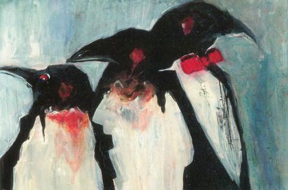 Three Christmas Penguins